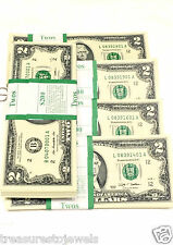 10 New $2 US Two Dollar Bill  Note Uncirculated Sequential # Fast Shipping .