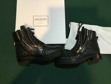 100% AUTHENTIC BALMAIN ARMY RANGER ZIP BOOTS, BLACK, NEW, MADE IN ITALY