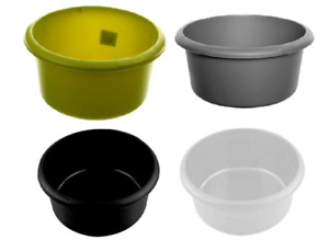 ROUND PLASTIC WASHING UP BOWL CHOICE OF COLOURS: RED CREAM BLACK SILVER OR GREEN