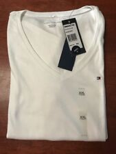 Tommy Hilfiger Rugby Stripe Navy White Tee Top Size S Fits 8 or 10