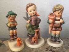 Lot x3 Hummel Figurines SENSITIVE HUNTER 6/0 LITTLE TAILOR 308 LITTLE SCHOLAR 80
