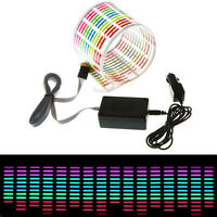 45 x 11cm Sound Music Activated Sensor Car Sticker LED Light Equalizer Glow