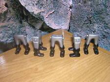 ( A 12 / 15 ) 5 x Jambes argent black Bottes Garde Soldats ACW Western