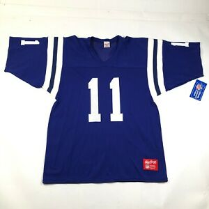 Vintage Indianapolis Baltimore Colts Mens L Football Jersey #11 Jeff George NWT