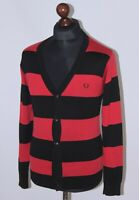 Fred Perry mens 100% wool cardigan jumper Size S