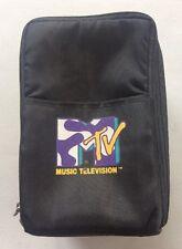 VINTAGE MTV LOGO Carrying Travel Case - Holds 15 CDs w/ MTV LOGO Zippers RARE