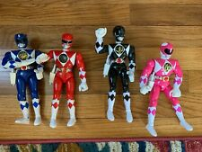 "Power Rangers 8"" Karate Action (1990s Bandai - Blue, Red, Blue, Pink Figure Lot)"