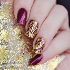 3D Geprägt Blume Nagel Aufkleber Gold Blühen Maniküre Nail Art Stickers Dekor