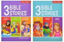 3 Bible Stories, Level 1 Reader - Preschool Early Childhood Reader- 2 Books