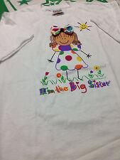 Big Sister  100% Cotton Short Sleeve T-Shirt  Size Large