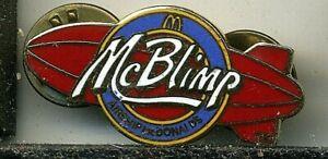 McBlimp Airship McDonald's Hot Air Balloon Pin
