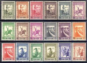 Cape Verde scott#234-251 (1938) Colonial Empire full set OG MNH**/MLH*
