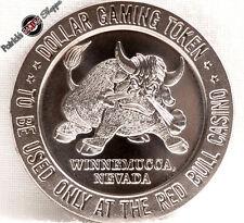 $1 PROOF-LIKE SLOT TOKEN JOE MACKIE'S RED BULL CASINO 1966 FM MINT WINNEMUCCA