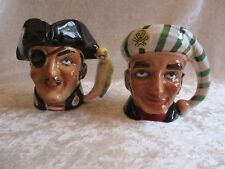 Pair of Vintage Ceramic 1960 Lego #469 Pirate Mugs/Cups