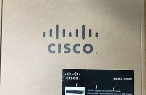 Cisco - SG350-10SFP - 10-Port Gigabit Managed SFP Switch