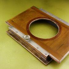 Antik Holz Lens Board Kamera, Globica Messing Platte 8x10 Großformat ☆☆☆