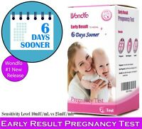 Wondfo 25Pack (10mIU) Early Result Pregnancy HCG Urine Test Strips. 25 HCG Tests