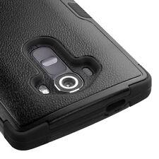 For LG G4 - HARD&SOFT RUBBER HYBRID ARMOR SKIN PHONE CASE COVER BLACK KICKSTAND