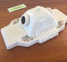 VINTAGE Porcelain Bathroom Light Fixture Sconce Ceiling Ceramic Dual Flora