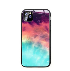 Tempered Glass Phone Case Moon Stars Glossy Cover For IPhone 11 PRO MAX XR 6/7/8