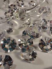 "Acrylic Diamond Wedding Confetti, 20. Pcs Bling Vase Filler 1.25x.75"""