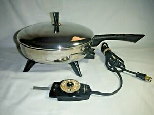 """VTG Kenmore Sears 10.5"""" Electric Skillet W/ FARBERWARE Thermostat Control 100"""