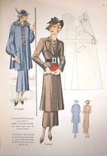 Rare : Façon TAILLEUR Eté 1936 - 24 planches mode coloriées au pochoir complet