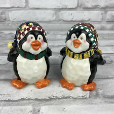 Bico Penguin Ceramic Salt & Pepper Shakers Christmas Holiday Winter 4 Inches