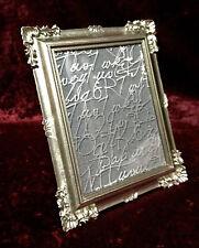 Bilderrahmen Antik Silber Rechteckig Antik Barockrahmen Fotorahmen Shabby c77p