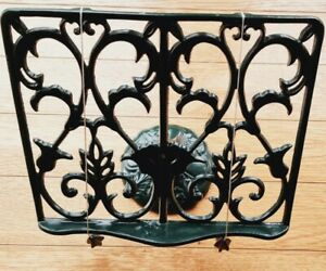Vintage Cook Book Stand Rustic Cast Iron Metal Kitchen Recipe Stand Book Holder
