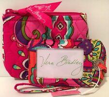 Vera Bradley JEWELRY CASE & LUGGAGE TAG PINK SWIRLS Coin Purse Cosmetic Bag NWT