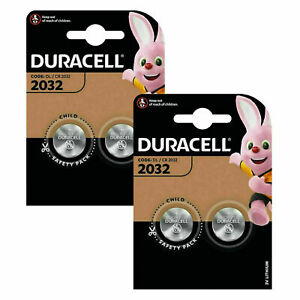 4 x DURACELL DL/CR 2032 3V Lithium Coin Cell Battery Batteries EXPIRY 2028