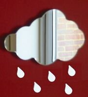 Cloud & Raindrops Acrylic Mirror (Several Sizes Available)