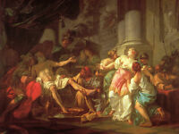 """Oil painting Jacques-Louis David Portraits The Death of Seneca free shipping 48"""""""