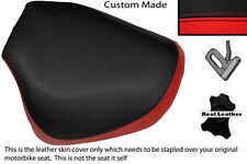 BRIGHT RED & BLACK CUSTOM FITS HYOSUNG GV 125 AQUILA 01-13 FRONT SEAT COVER