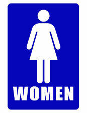 Bathroom Sign..WOMENS RESTROOM SIGN..Aluminum NO RUST..High Gloss wb#286