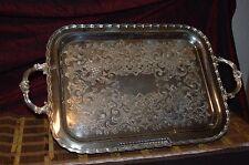 "Primrose Plate E P Copper B.M. Mounts 979 Tray w/ Handles 25 1/4""x14 7/8"""