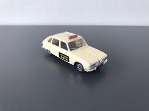 Norev France 70's . Renault 16 TX , Version Taxi Radio , Num 3 . Beige Clair