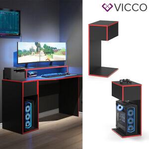 Computerschrank Beistellschrank für Gaming Desk Kron Schreibtisch Ablage Vicco