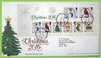 G.B. 2016 Christmas M/S Royal Mail First Day Cover Bethlehem