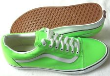 Vans Womens Old Skool Neon Green Gecko True White Canvas Skate shoes Size 7 NWT