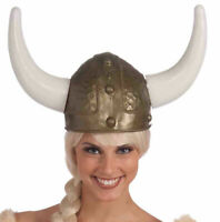 Adult Viking Warrior Horns Plastic Hat Helmet Unisex Costume Accessory