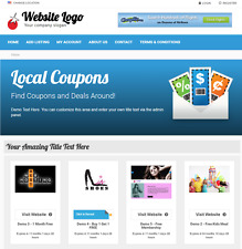 Coupons & Deals Listing Directory - Website for Sale Hosting Included