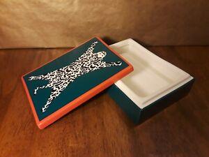"JONATHAN ADLER Now House ""Mod Leopard"" Ceramic Trinket Box w/Lid BLACK/WHITE"