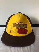 Vintage Fishing Baseball Hat Snapback Cap Trucker Mesh Size M L