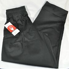 New Chef Works Black Cooking Baggy Medium Pants Pockets Nwt