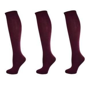 Sierra Socks Kids' Girl's School Uniform Knee-Hi 3 Pair Cotton Black White Socks