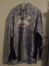 SUPERMAN HOODIE 2XL JACKET WHITE  BLACK TRIM