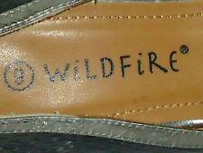 WILDFIRE BlackFauxSnakeskinPeepToeStilettoSize8NWoT
