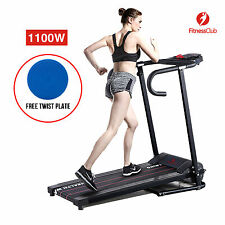 Portable Folding 1100W Electric Motorized Treadmill Running Gym Fitness Machine
